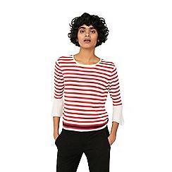 Mango - Red 'Lambada' stripe print sweater