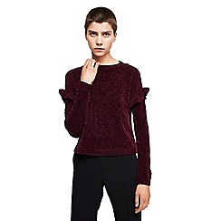 Mango - Wine red 'Tipi' long sleeves sweater