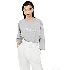 Mango - Grey 'Combi' printed sweatshirt