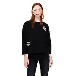 Mango - Black 'Jewel' sweatshirt