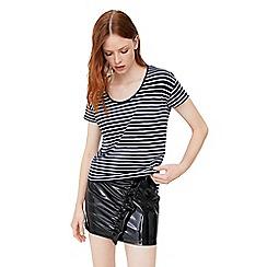 Mango - Navy 'Chala' striped t-shirt