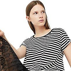 Mango - White 'Chala' stripe print t-shirt