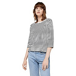 Mango - White striped 'Cuso' t-shirt