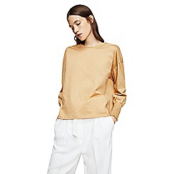 Mango - Camel 'Jaspe' long sleeves t-shirt