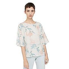 Mango - Natural 'Chemfri' floral print t-shirt