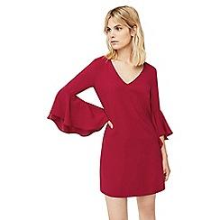 Mango - Red 'Selma' ruffled sleeves dress