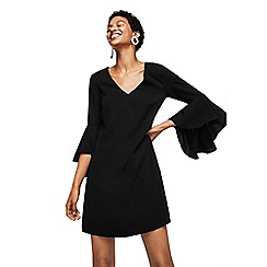 Mango - Black 'Selma' ruffled sleeves dress