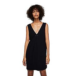 Mango - Black 'Saco' v-neck dress