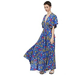 Mango - Blue 'Gisela' floral print dress