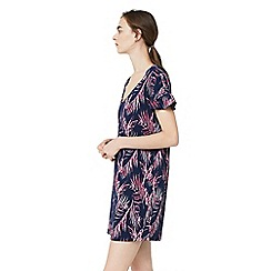 Mango - Navy 'Liave' Palm print dress