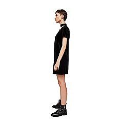 Mango - Black velvet 'Collins' v-neck mini shift dress