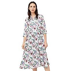 Mango - Multi-coloured 'Cadiz' floral print shirt dress