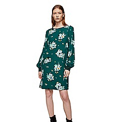 Mango - Green floral print 'Fly' dress