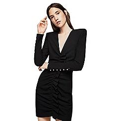 Mango - Black 'Tina' ruched bodycon dress