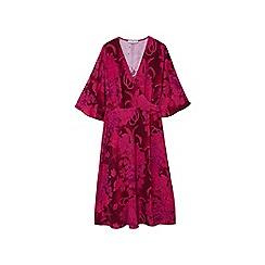 Mango - Pink floral print 'Full' wrap dress