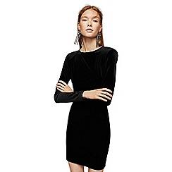 Mango - Black velvet 'Brigitte' mini dress