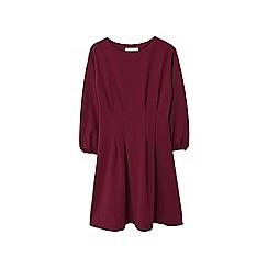 Mango - Dark red 'Dart' pleated dress