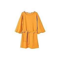 Mango - Yellow 'Amelie' mini belted dress