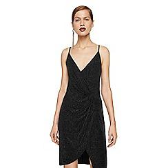 Mango - Black 'Nori' v-neck knee length dress