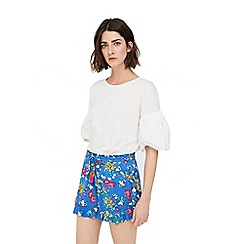 Mango - Blue 'Tasmania' floral print shorts