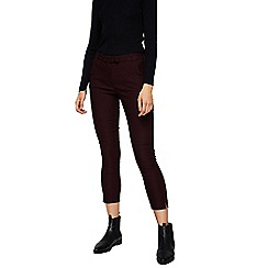 Mango - Wine red 'Cola' slim fit cropped trousers
