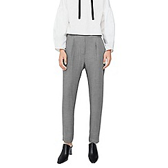 Mango - Grey 'Visual' pleated trousers