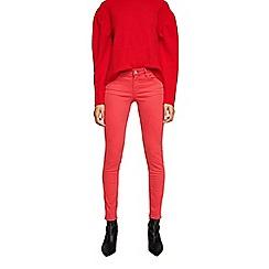 Mango - Dark pink cotton blend 'Kim' push up skinny jeans