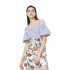 Mango - White 'Bloom' floral print skirt