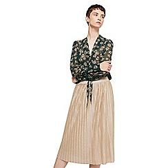 Mango - Gold 'Newvice' metallic skirt