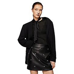 Mango - Black embellished mini skirt