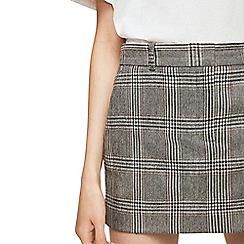 Mango - Grey 'Mimi' Prince of Wales wool blend skirt