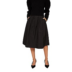 Mango - Black 'Chaina' pleated skirt