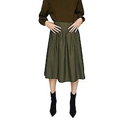Mango - Khaki green 'Chaina' pleated skirt