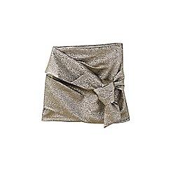 Mango - Golden bow mini skirt