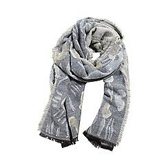 Mango - Pale grey animal print 'Simba' scarf