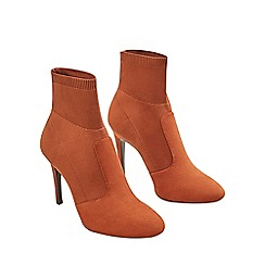 Mango - Terracotta 'Lola' ankle boots