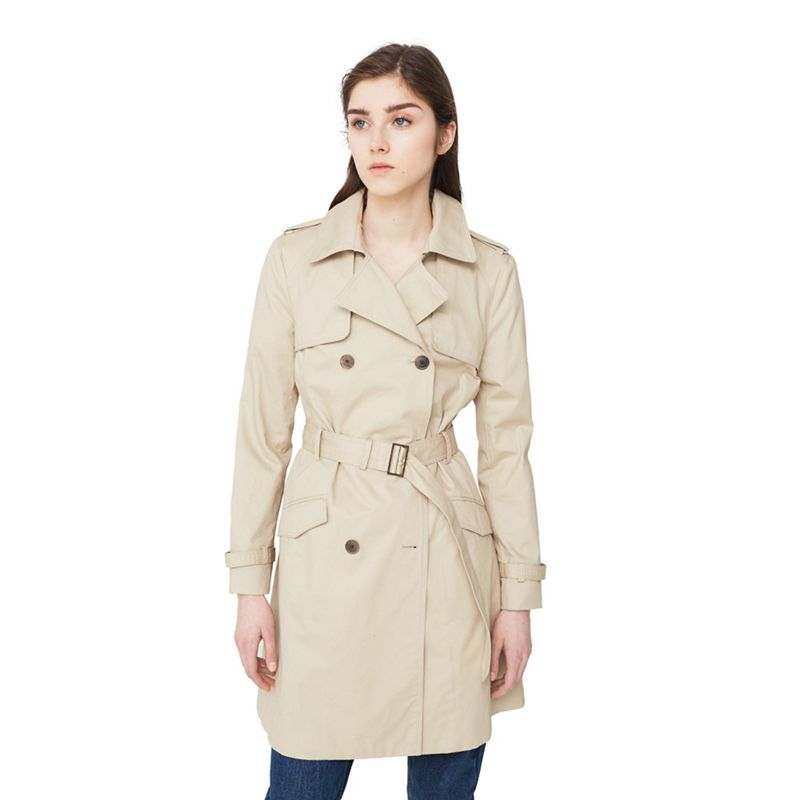 Mango Beige Central belted trench coat