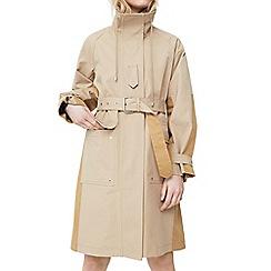 Mango - Brown 'Phillip' belted parka jacket
