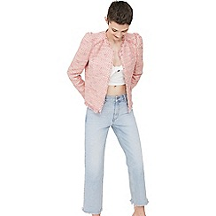 Mango - Pink tweed jacket