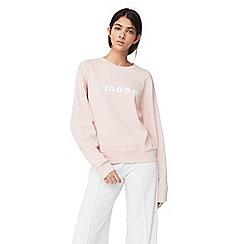 Mango - Pink 'Cityzen' printed sweatshirt