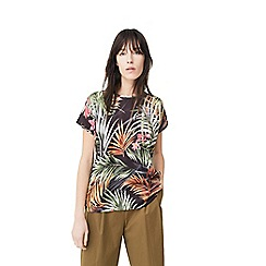 Mango - Multi-coloured 'Chemapri' floral print t-shirt