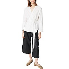 Mango - White 'Didi' wrap blouse