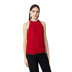 Mango - Red 'Nika' pleated top