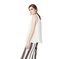 Mango - White 'Nika' pleated top