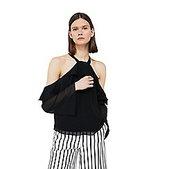 Mango - Black 'Angels' drop shoulder top