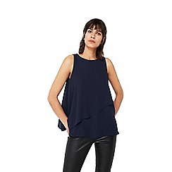 Mango - Blue 'Giulia' double layered top
