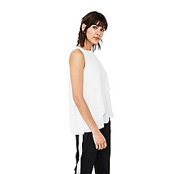 Mango - White 'Giulia' double layered top
