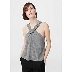 Mango - Black 'Kard' wrapped top