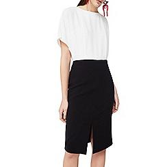 Mango - White 'Jolie' contrasting dress