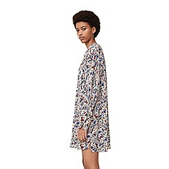 Mango - Blue 'Bosque' floral print dress